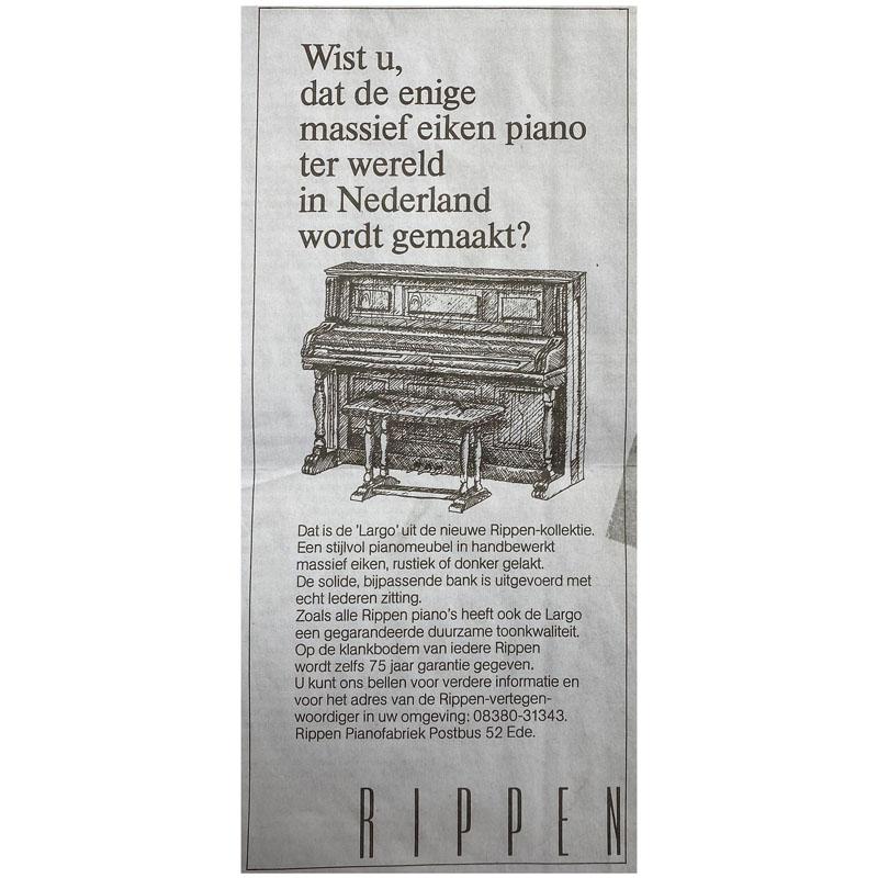 krantenartikel Rippen Largo